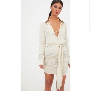 Dresses & Skirts - Satin Ruched Dress